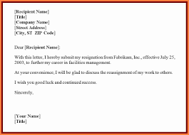 Resignation Letter Due to Stress Template