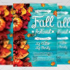 Fall Festival Flier Fall Festival Flyer Seasonal A5 Template