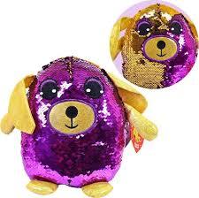 Мягкая <b>игрушка ABtoys Собака</b> с пайетками 19 см, MP001 ...