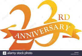 Anniversary Ribbon 23 Year Ribbon Anniversary Stock Vector Art Illustration Vector
