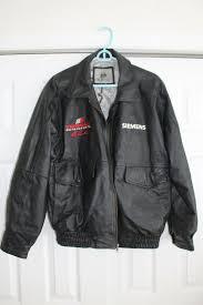 details about leather jacket ray evernham motorsports nascar hall of fame sponsor issue size l