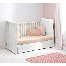 East Coast Alaska Sleigh Cotbed with Drawer White