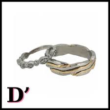 diamond enement ring his her wedding bands
