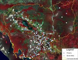 n genocide genocide studies program satellite maps mass grave and prison sites from 1975 1979