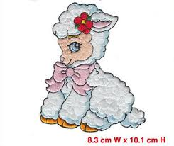 2018 New Arrival Sheep Iron On <b>Animal Embroidered Patches</b> ...