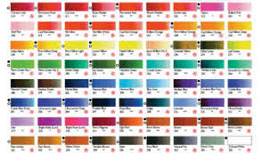 Shinhan Watercolor Hand Painted Color Chart