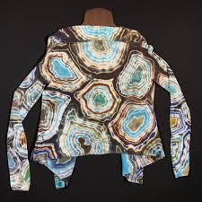 Womens Large Ann Taylor Loft Earthy Agate Geode Tie Dye