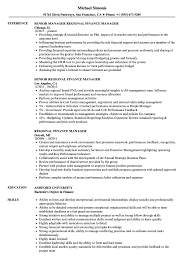 Finance Manager Resume Sample Regional Finance Manager Resume Samples Velvet Jobs 84