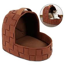 heart shape pet cave with removable cushion portable pet tents igloo houses with soft warm