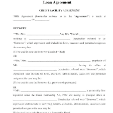 Template Collateral Loan Agreement Throughout Sample