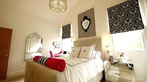 Pink Zebra Wall Mirror Teens Teenage Girl Bedroom Design With Black Floral  Drapery And White Bed Sheet Wall Mirrors For Sale In Lahore