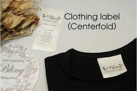 Diy Clothing Label Centerfold Satin Label Custom Print Personalised Clothing