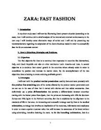 zara case study zaras objectives strategies and problems a  page 1 zoom in