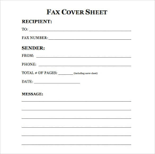 Fax Cover Letter Template Pdf Free Fax Cover Sheet Template One Every Last Template