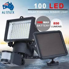 100 led solar sensor light outdoor garden motion security floodlights new