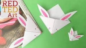 easy paper bunny bookmark corner bonus video