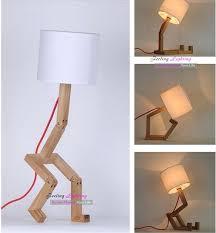 diy table lamps bedroom lampshade table lamp design original fabric table lamps modern robot desk light