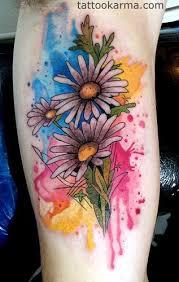 Watercolor Daisy Tattoo Google Search Nápady Na Tetování