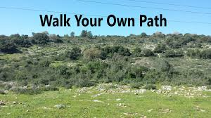Image result for walk your own path