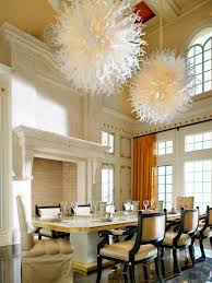 average height chandelier above dining table