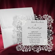Lace Wedding Invitation Card Personalized Handmade Invite Rose