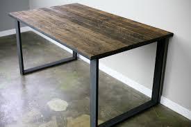 dining table desk reclaimed wood steel vintage modern