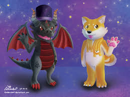 Enter a neon world of fantasy and adventure with the. Dragon And Doge Roblox Avatars By Cinderchar On Deviantart
