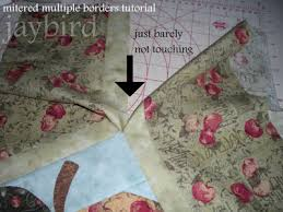 mitered multiple borders tutorial - {quilting basics tutorial ... & Because you pressed the seams in opposite directions they will nest  together. Two seams will nest together, the border to quilt seam and the ... Adamdwight.com