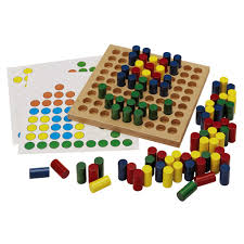 Wooden Peg Board Game Tiny Wood Peg Board Toy Curious Minds Busy Bags 14