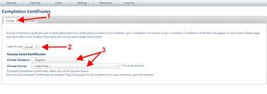 Completion Certificates Course Completion Certificates Bluevolt Knowledge Base
