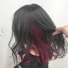 黒髪インナーカラー19選赤や紫などバレないおすすめのポイントカラー