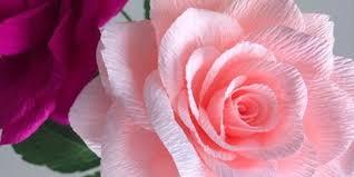 Rose Paper Flower Making The Art Of Crepe Paper Flower Making Roses The Lemon