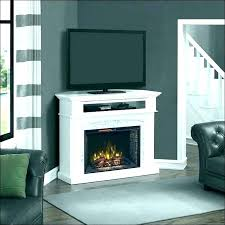 electric fireplace inment center corner over stacked stone faux small ston