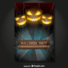 Halloween Flyers Templates Halloween Party Flyer Vector Free Download
