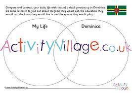 Compare And Contrast Venn Diagram Dominica Compare And Contrast Venn Diagram