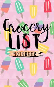 Grocery List Notebook Grocery List Book Planner Blank Grocery List