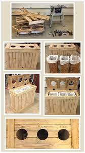 Amazing Uses For Old Pallets - 24 Pics LOVE recycling/trash bins