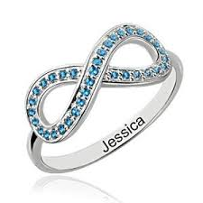 infinity mothers ring. full birthstone infinity promise ring sterling silver mothers