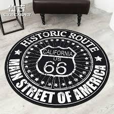 senkichi modern european and american minimalist personality round rug round rug carpet living room coffee table