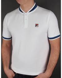 fila vintage polo. fila vintage skippa polo t-shirt white n