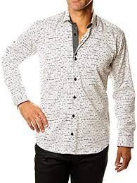 Maceoo Size Chart Maceoo Mens Designer Dress Shirt Stylish Trendy White