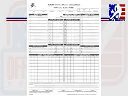 Hockey Score Sheet Interesting USA Hockey Officiating Program Scoresheets OffIce Officials Who