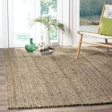 casual natural fiber hand woven grey chunky thick jute rug 6 square 8