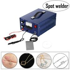 2019 mini spot welder gold silver jewelry laser welding machine with handle tool 110v dx 50a 400w spot welder welding machine silver 110v from yancandy