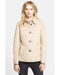 Lyst - Burberry brit 'copford' Quilted Jacket in Natural & Burberry Brit. Women's Natural 'copford' Quilted Jacket Adamdwight.com