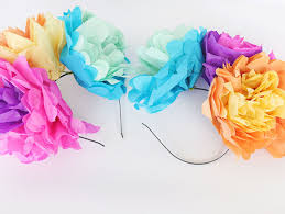 Paper Flower Headbands Diy Headbands With Fiesta Flowers