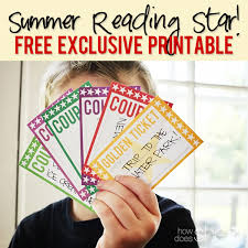 Summer Reading Incentive Chart Summer Reading Star Free Exclusive Printable How Does She