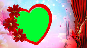free beautiful heart frame background hd