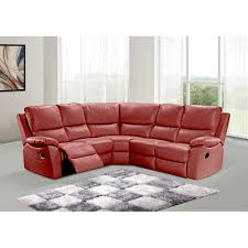 red leather reclining sofa. Red Leather Recliner Corner Sofa 42 With Reclining K