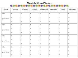 monthly meal planner template its easy to plan your meals with this free printable menu planner